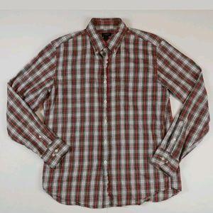 J Crew dress shirt large long sleeve cotton check